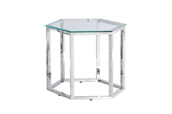 Журнальный стол ГЕКС серебро купить в салоне-студии мебели Барселона mnogospalen.ru много спален мебель Италии классические современные