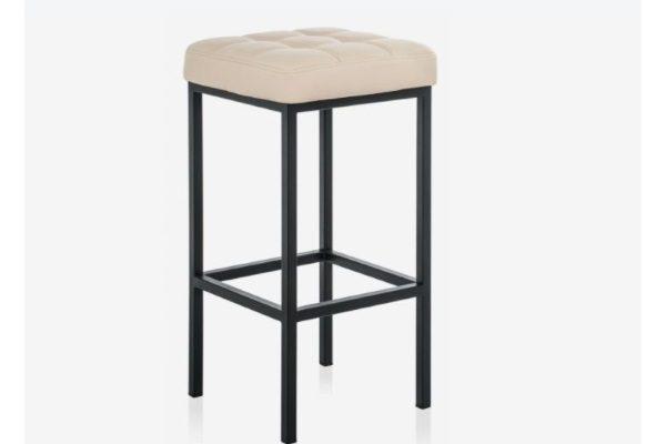 Барный стул Лофт кожзам d1 / черный матовый купить в салоне-студии мебели Барселона mnogospalen.ru много спален мебель Италии классические современные