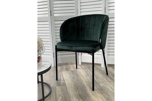 Стул DIANA BLUVEL-78 GREEN, велюр/ черный каркас М-City купить в салоне-студии мебели Барселона mnogospalen.ru много спален мебель Италии классические современные